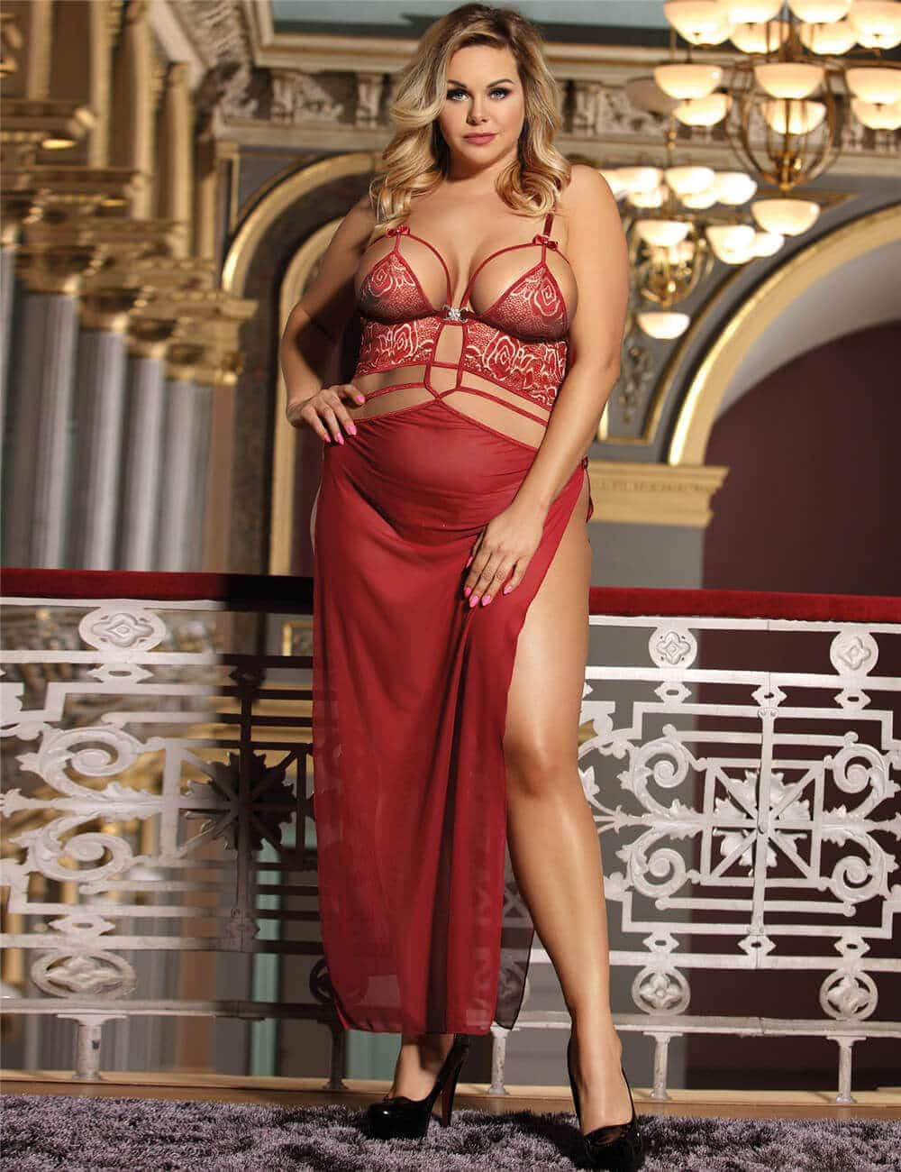 latest romantic Nightwear plus size